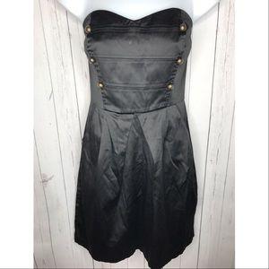 Charlotte Russe Size Medium Black Strapless Dress